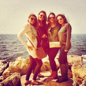 With my beautiful cousins at Byblos Harbour